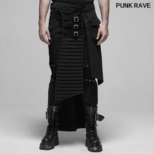 Punk cool Men Half Apron pants Personality Twill Woven Fabri