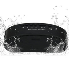 Bluetooth Speaker Portable with FM Radio LED Light Wireless waterproof Type Audio Player Suitable Cycling Outdoor Broadcasting(China)