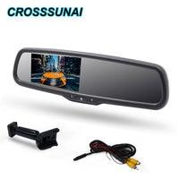 4.3 인치 자동차 미러 모니터 No.1 OEM 브래킷 자동 밝기 변경 자동 디밍 역방향 미러 자동차 후면보기 TFT LCD