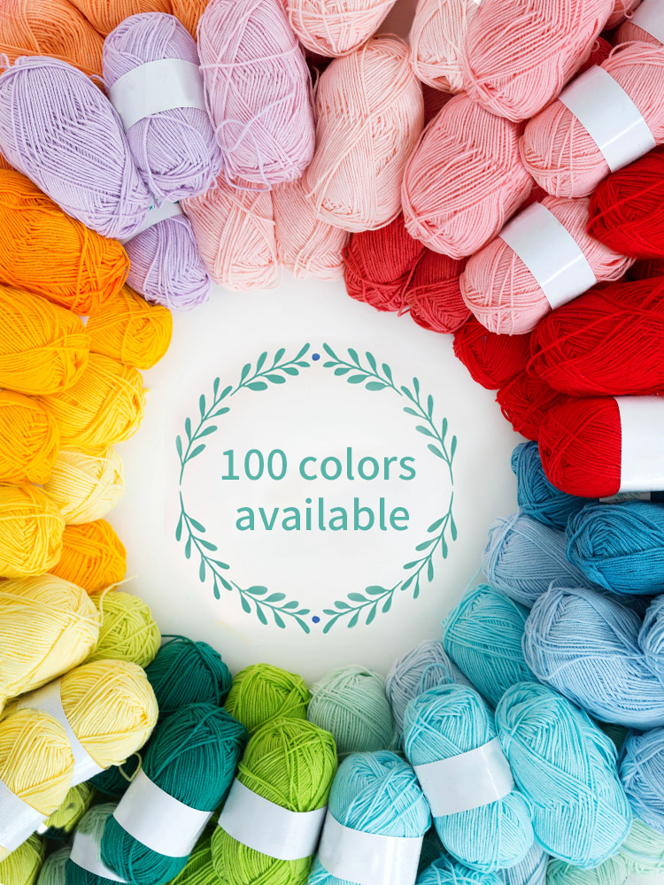 Milk Cotton Doll Sweater Scarf Hat Cardigan Thread Yarn Hand-Knitting for 50grams/Set