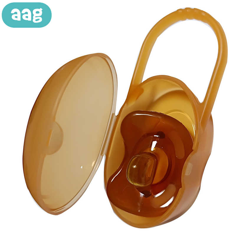 AAG Portable Baby Pacifier Case Box Dustproof Food-grade Newborns Pacifier Nipple Cradle Holder Baby Pacifiers Storage Box