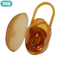 AAG Portable Baby Pacifier Case Box Dustproof Food-grade Newborns Pacifier Nipple Cradle Holder Baby Pacifiers Storage Box(China)