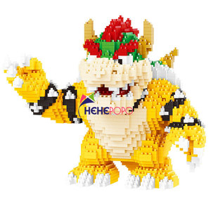 Image 2 - 2200pcs 21822 Diamond Blocks Cartoon Action Figure Koopa King Anime Micro DIY Building Toys for Kids Gifts Brinquedos Children