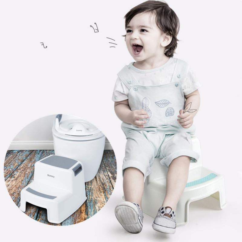 Children Stool Urinal Potty Training Non-slip Bathroom Kitchen Two Step Stool Is Portable Stackable Self-reliance Training HWC