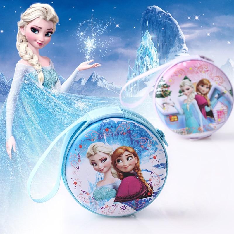 Frozen Princess Cartoon Coin Purse Elsa Anna Princess Girls Key Case Wallet Children Snow Queen Headset Bag Coin Bags Girls Gift