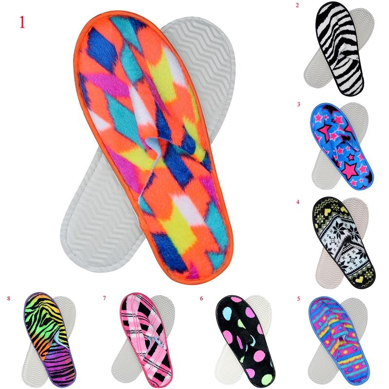 Buy 2019 Women Fur Slippers Winter Shoes Anti-slip Home Slippers soft Plush Unisex Indoor Warm Slipper Slides Fluffy Cotton Shoes
