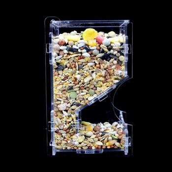Small Pet Feeder Acrylic Hamster Feeding Supplies Transparent Guinea Pig Feeding Box 1
