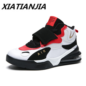 Image 1 - 2020 Mens Sneakers Autumn Winter New High top Air Cushion Shoes Men Wear Resistant Trainers Zapatillas Hombre Scarpe Uomo