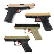 2pcs Plastic Gel Ball Gun Glock 17 1911 Water Bullets Boys Toys Gun Weapon Pistol Accessories Gun Case Outdoor Game Kids Gifts