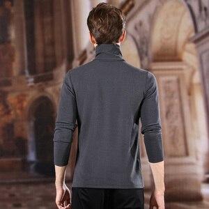 Image 3 - UCAK marka poliester prosta koszula mężczyźni 2020 Trend w modzie golf casual wiosenna jesień Streetwear New Arrival T shirt U1036