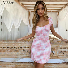 Nibber summer Bandage Bodycon mini Dress women Lattice Halter Sexy Club Party ladies dress2019 beach Casual vacation short Dress