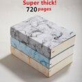 Супертолстый! Блокнот с линейками на 720 страниц B6/A5, ежедневный блокнот, сохраняет записи наилучшим образом для письма на 1-2 года