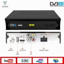 Vmade DVB S2 MiNi Satellite Receiver HD Digital TV Tuner Support WiFi 3G Dongle CS Bisskey Youtube DVB S2 TV Set Top Box