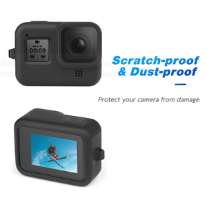 Image 3 - SHOOT for GoPro Hero 8 Black Protective Silicone Case Soft Bag Housing Cover Shell + Tempered Film for Go Pro Hero 8 Accessories