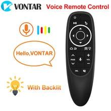 VONTAR G10 G10S Pro voix télécommande 2.4G sans fil Air souris Gyroscope IR apprentissage pour Android tv box HK1 H96 Max X96 mini
