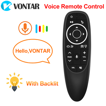 VONTAR G10 G10S Pro z pilotem 2 4G bezprzewodowa mysz żyroskop uczenie IR dla tv box z androidem HK1 H96 Max X96 mini tanie i dobre opinie Audio Video Players CN (pochodzenie) 433 MHz G10 or V11 Black ABS Plastic and silicone 2 4G RF wireless AAA*2 (no included)