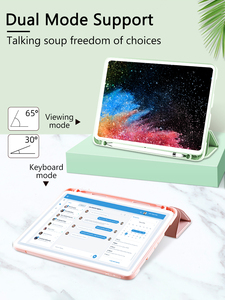 Image 3 - For iPad Pro 12.9 Case with Pencil Holder 2018 2017 2015 PU Leather TPU Soft Cover for iPad Pro 12.9 2018 Case Wireless Charge