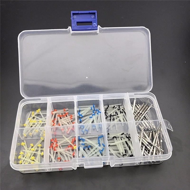 160pcs/kit Dental Post With 32pcs Drill Link Pins Conical Screw Post Drills Kits Refills Plated Tapered Dental Tool Supplies
