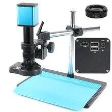 Full HD SONY IMX290 HDMI Autofocus Auto Focus TF enregistrement vidéo stockage image 180X lentille industrielle vidéo Microscope ensemble de caméra