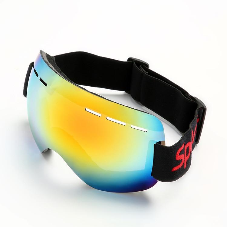 New Fashion Glasses Snowboard Ski Goggles Gear Skiing Sport Adult Glasses Anti-fog UV Dual Lens Winter Sports Equipment