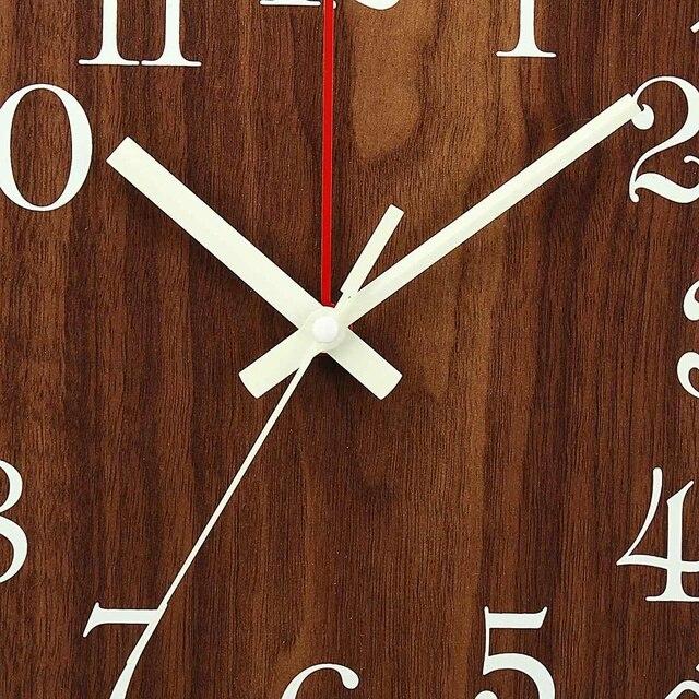 Horloge murale lumineuse chaude 12 pouces en bois silencieux Non-coutil horloges murales de cuisine avec veilleuses pour salon intérieur/extérieur