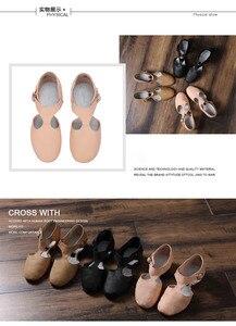 Image 5 - Genuine Leather Stretch Ballet Dance Shoe For Women Jazz Dancing Shoe Teacherss Dance Sandals Girls Pointe Shoe