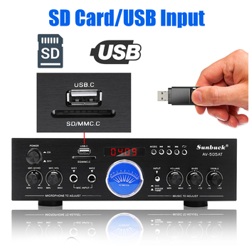 Усилитель мощности SUNBUCK AV-505AT, Bluetooth, USB, FM 6