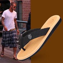 Sapatos masculinos novos antiderrapantes chinelos flip-flops praia sandálias verão lazer ao ar livre sapatos de praia masculino