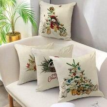 Льняной Рождественский Чехол на подушку fuwatacchi наволочки