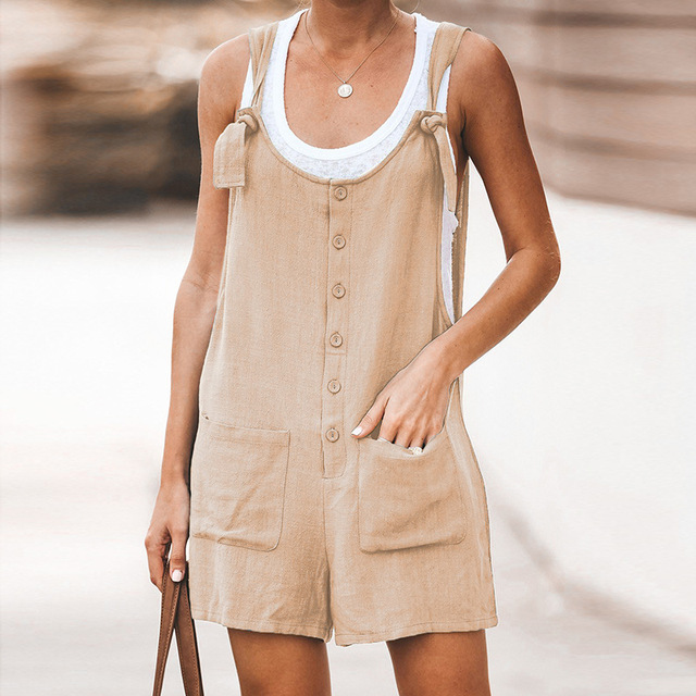 Women Rompers Solid Jumpsuit Summer Short  Jumpsuit Female Wrapped Strapless Playsuit 32