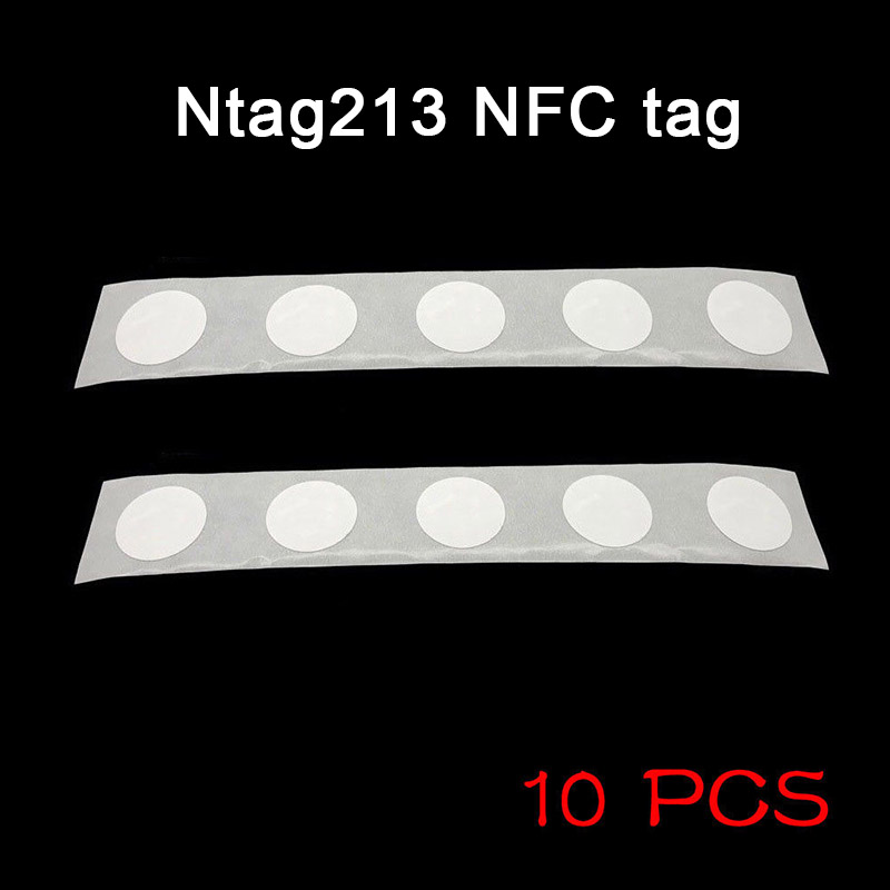 10pcs NFC Tags Sticker 13.56 MHZ 25mm Chip Universal Durable For Mobile Phone @M23