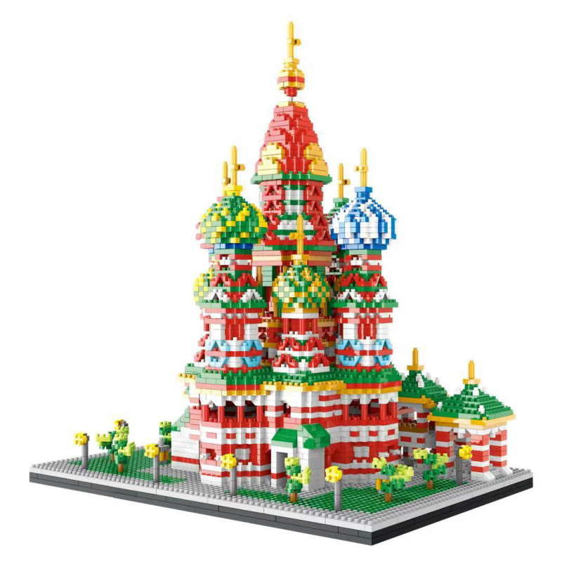 4650PCS Mini Diamond Block Famous City Architecture Wassili Cathedral Model Building Blocks Bricks Educational Toys For Kid Gift