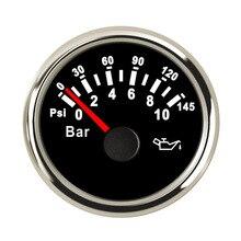 52 мм лодочный Автомобильный манометр давления масла 5 бар/10 бар измеритель давления топлива подходит для выходного сигнала 10~ 184 Ом датчик