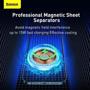 Image 4 - Baseus 15W supporto per auto caricabatterie Wireless centro di aspirazione magnetico cruscotto supporto uscita aria ricarica Wireless per iPhone serie 12