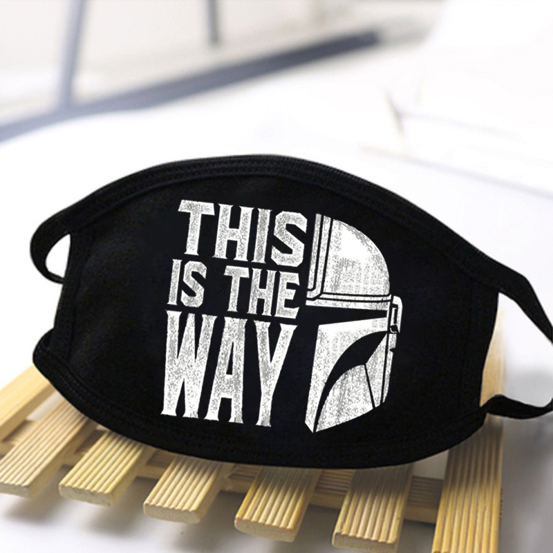 Star Wars This Is My Way Anti Dust Masks Unisex Washable Reusable Mouth Muffle 2020 New Men Dustproof Masque De Protection Women
