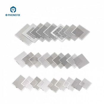 PHONEFIX 36 Pcs Universal BGA Reballing Stencil Template Directly Heated For Cell Phone Tablet Motherboard Chips Repair