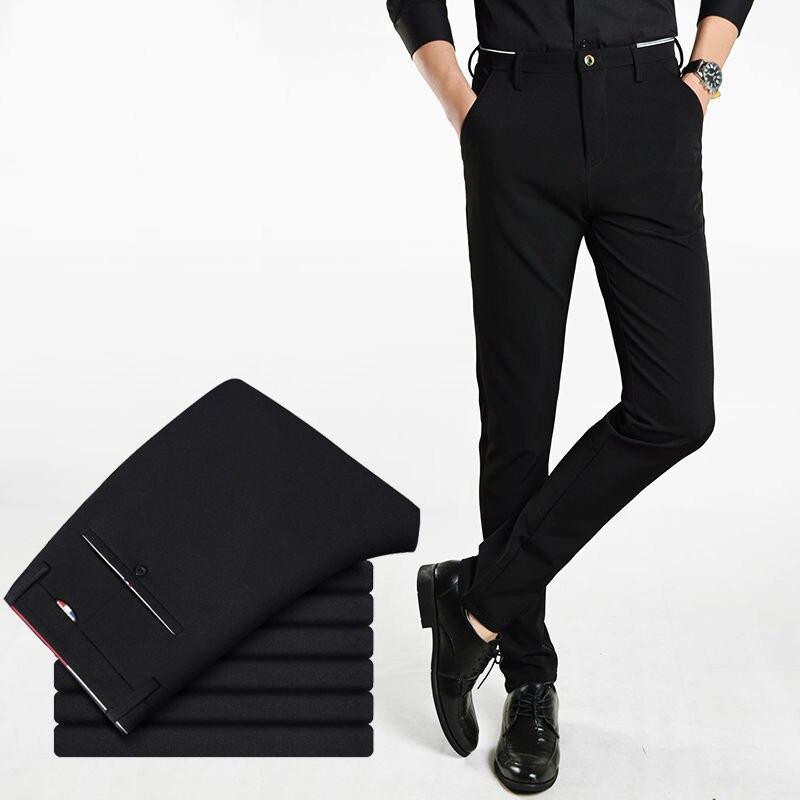 Summer Black Men's Dress Pants Business Classic Suit Pants Mens Casual Dress Suit Man Office Work Slim Fit Male Casual Trousers