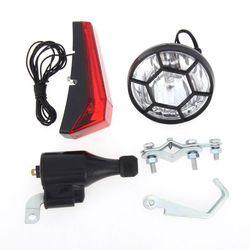 SX06 rowerów rocznika modyfikacji Retro rower lampa przednia światła LED Fixie reflektor z uchwytem uchwyt naprawy Ridding dostaw