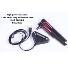 2.4G 5G 5.8G Dual Band High-Gain WiFi Omnidirectional with 2pcs 12dBi Antenna for desktop laptop router RP-SMA