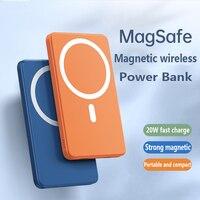 Magsafe-cargador inalámbrico magnético, batería externa para iPhone 12, 13, Xiaomi, Samsung
