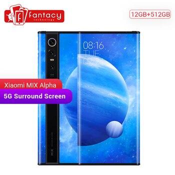 Перейти на Алиэкспресс и купить Оригинальный Новый Xiaomi MIX Alpha 12 ГБ 512 ГБ Snapdragon 855Plus 7,92 дюймов 1080P OLED 4050 МП супер флагманские тройные камеры MIUI Alpha