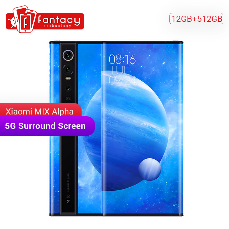 """Оригинальный Новый Xiaomi MIX Alpha 12 ГБ 512 ГБ Snapdragon 855Plus 7,92 """"1080 P OLED 100 МП супер флагманская Тройная камера MIUI Alpha 4050 Смартфоны и мобильные телефоны      АлиЭкспресс"""