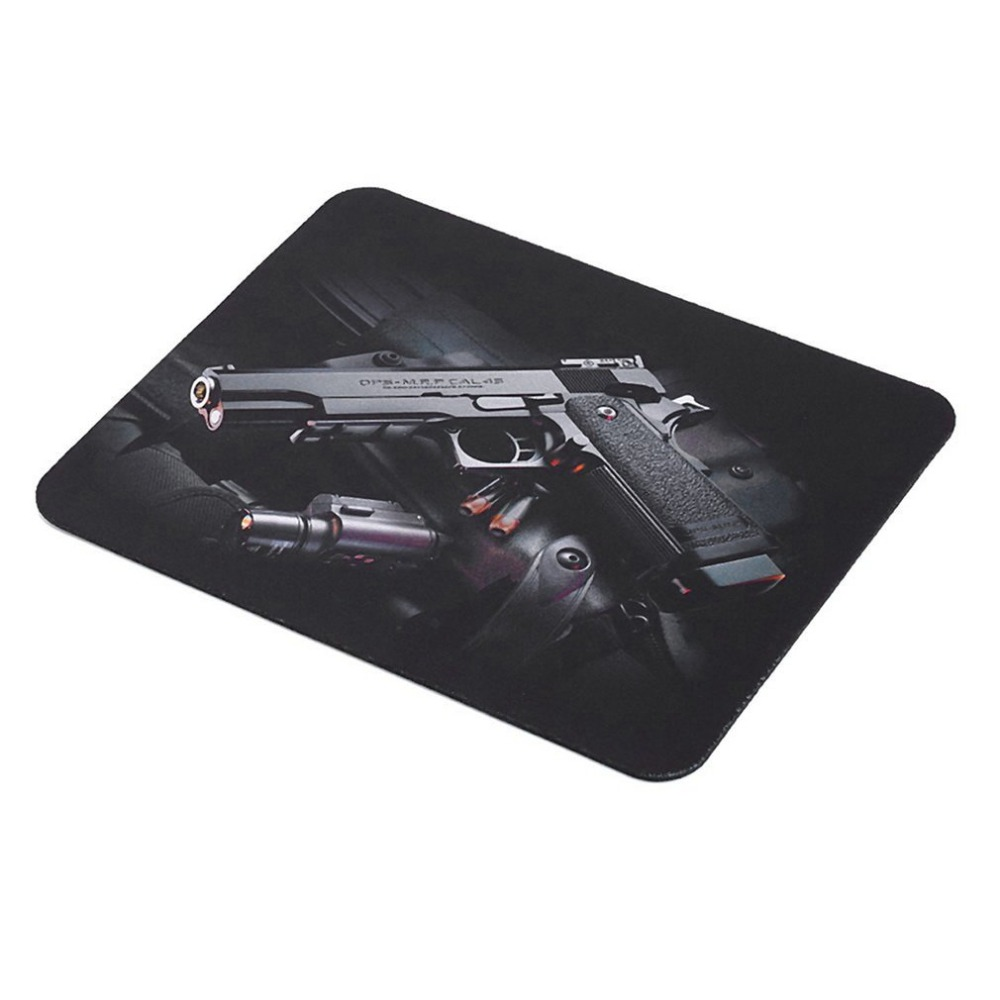 24x20cm Gun Pattern Anti-Slip Laptop PC Mice Pad Mat Mousepad For Optical Laser Mouse Comfortable Gaming Mouse Pad Drop Ship