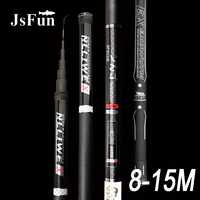 8m 9m 10m 11m 12m 13m 14m 15m Carbon Taiwan Fishing Rod Long Section Ultralight Superhard Telescopic Fishing Rod Powerful YG61