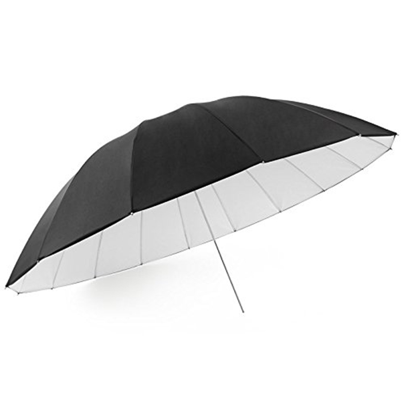 Fomito 7 feet Mega Parabolic Reflector Umbrella White//Black