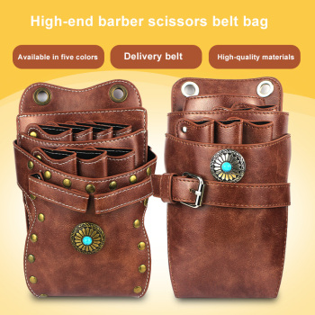 Sun flower Barber Scissors Belt Bag Retro New Scissors Bag Barber Scissors Belt Bag Shoulder Bag Barber Belt Bag цена 2017