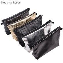 7 Colors Solid Leather Makeup Bag Women PU Cosmetic Bag Travel Toiletry Bag Makeup Case Organizer Multi Waterproof Handbag