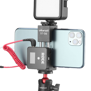 Image 1 - Ulanzi ST 08 Rode אלחוטי ללכת טלפון מחזיק עם קר נעל טלפון קליפ הר עבור LED אור Micrephone וידאו חצובה Stand