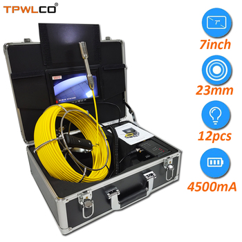 Średnica 23mm przemysłowe wideo głowica kamery 20-50m kabel 7 cal wyświetlacz które muszą być bezpieczne inspekcja rur System kamer z DVR tanie i dobre opinie TPWLCO CN (pochodzenie) Drutu twardego Us wtyczka TP9200 Intrinsically Safe Pipe Inspection Camera System 7 inch Monitor
