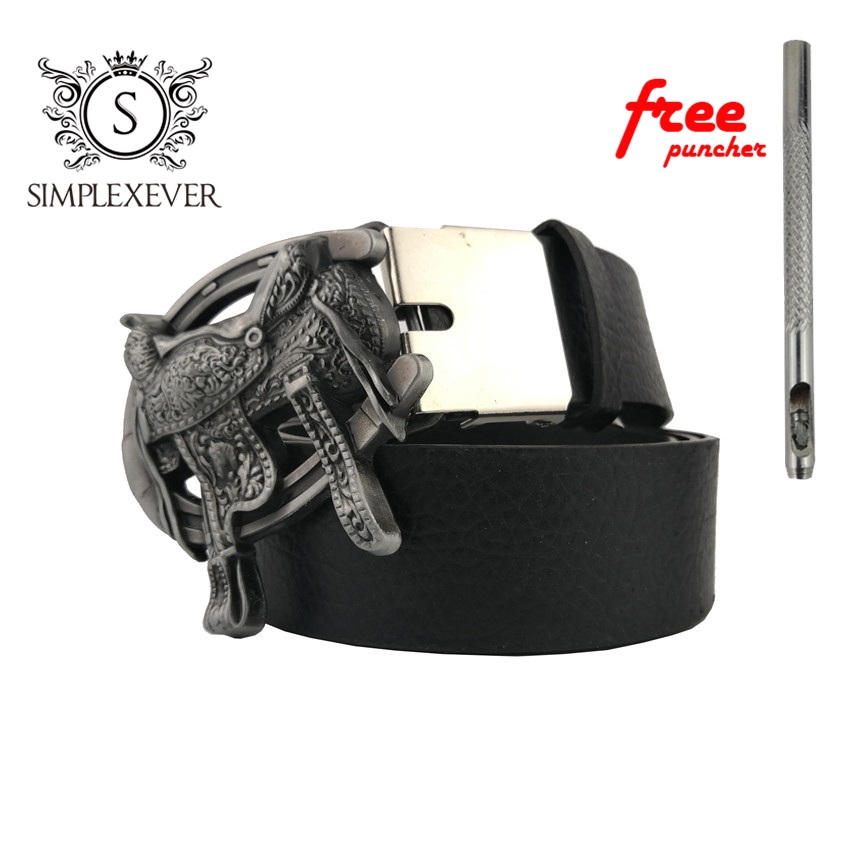 Men's Belt Buckle Equestrian Competition Cowboy And Cowgirl Metal Tool Western Buckles With Belt Dropship